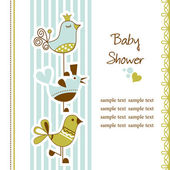 Birds baby shower — Stock Vector