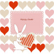 Stock Vector: Love Easter card for children