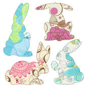 Easter bunnies — Stock Vector