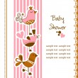 Stock Vector: Funny birds baby shower