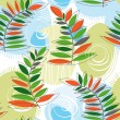 Spring forest seamless pattern - 图库矢量图片