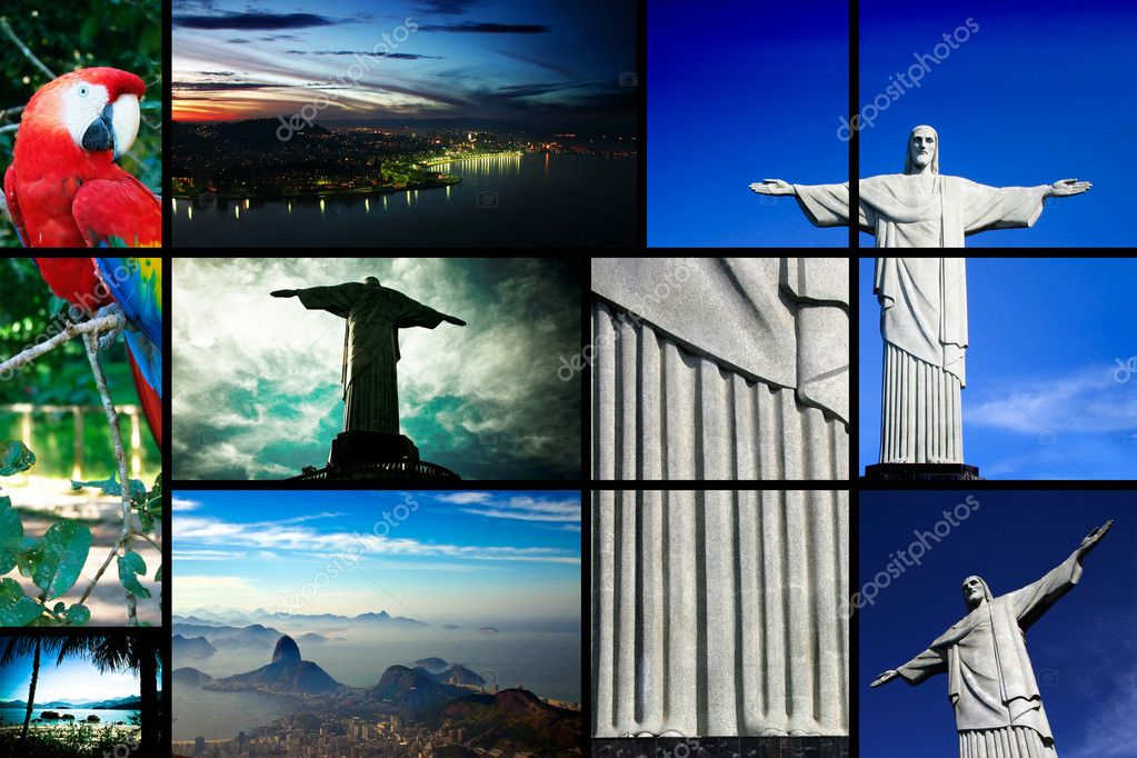 Multiple views from Brazil with a special focus in the Christ The Reedemer — Stock Photo #10498351