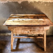 Antique wood table — Stock Photo