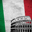 Italian grunge flag — Stock Photo
