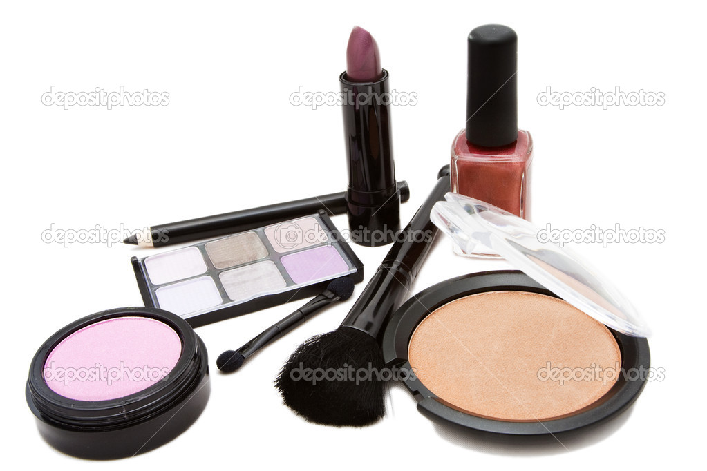 Cosmetics set against a white background — Stock Photo #9261392