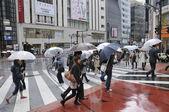 Regnigt tokyo — Stockfoto