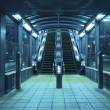 Stock Photo: Escalators hall