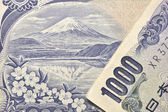 Japanese currency macro — Stock Photo