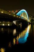 Night bridge — Stockfoto