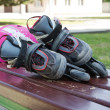 Kid inline rollerblades — Stock Photo