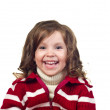 Beautiful little girl with curly hair. — Stock Photo