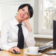 Beautifull businesswoman — Stock Photo