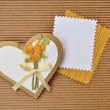Love heart greeting or invitation card — Stock Photo
