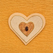 Stock Photo: Love heart decorated with coffee bean menu book cover