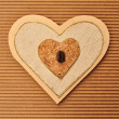 Love heart decorated with coffee bean menu book cover — 图库照片