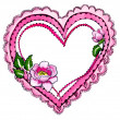 Stock Photo: Pink heart frame border