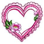 Pink heart frame border — Stock Photo #8520579