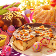 Easter confectionery on festive table — Stock Photo #10054679