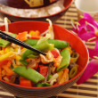 Oriental chicken with vegetables — Stock Photo #10483558