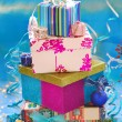 Gift boxes in the shape of christmas tree — Stock Photo #7997545