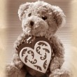 Vintage style teddy bear — Stock Photo