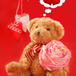 Teddy bear for valentines - Lizenzfreies Foto