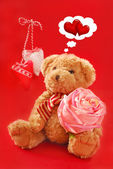 Teddy bear for valentines — Stockfoto