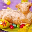 Easter cake in the shape of lamb — Stock Photo
