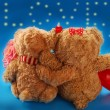 Royalty-Free Stock Photo: Valentine`s date of teddy bears couple
