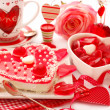 Jelly cake for valentine — Stock Photo