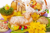 Wielkanocne ciasto w kształcie baranka — Zdjęcie stockowe