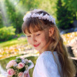 Girl going to the first holy communion — ストック写真