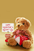 Romantic teddy bear — Stock Photo