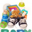 Stock Photo: Baby boy stuffs