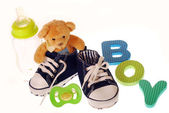 Baby boy stuffs — Stock Photo