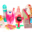 Toiletries stuffs for little girl — Stock Photo #8949246