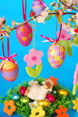 Easter decoration with lamb — Stock Photo