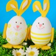 Stock Photo: Easter funny eggs