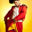 Royalty-Free Stock Photo: Bullfighter courage red yellow humor spanish colors