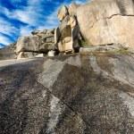 Rockscape granite mountain landscape cloud sky — Stock Photo