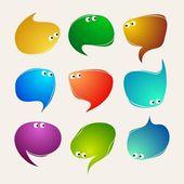 Speak bubbles vector — Stock Vector