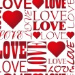 Seamless love heart pattern vector - Stok Vektr