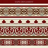 Tape ornament — Stock Vector