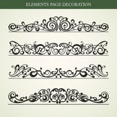 ELEMENTS PAGE DECORATION — Stock Vector