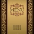 Menu cover — Stock Vector