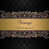 Fondo vector vintage — Vector de stock
