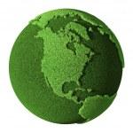 Grass Globe - North America — Stock Photo
