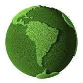 Grass Globe - South America — Stock Photo