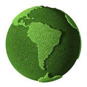 Grass Globe - South America — Stock Photo