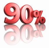 Glossy Red Ninety Percent — Stock Photo